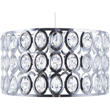 Modern Crystal Beads Pendant Ceiling Lamp Light Sparkly Tenna S