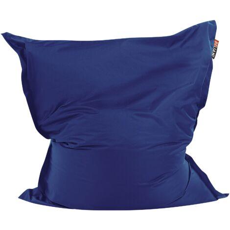 Modern Dark Blue Bean Bag Large Nylon Zipper Living Room Bedroom Garden