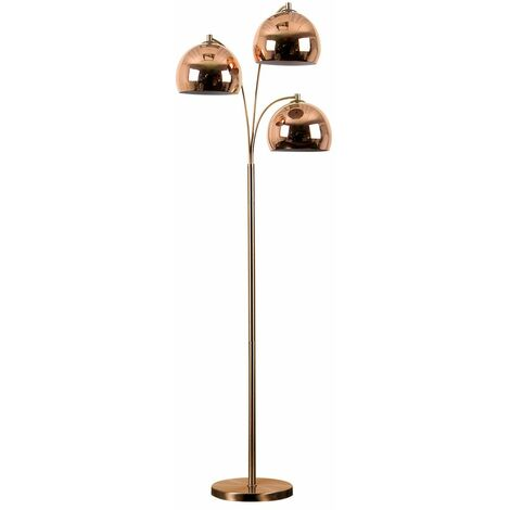 Modern Designer 3 Way Floor Lamp + Dome Shades