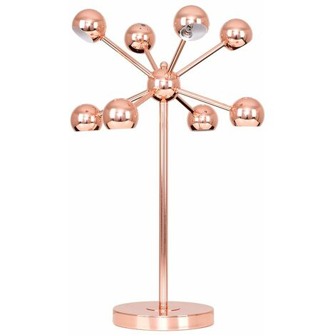 Modern Designer 8 Way Multi Arm Cosmic Table Lamp