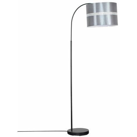 Modern Designer Curved Stem Floor Lamp With A Cotton Light Shade