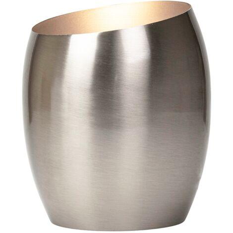 Modern Designer Satin Nickel Metal Integrated LED Table/Floor Lamp Uplighter by Happy Homewares