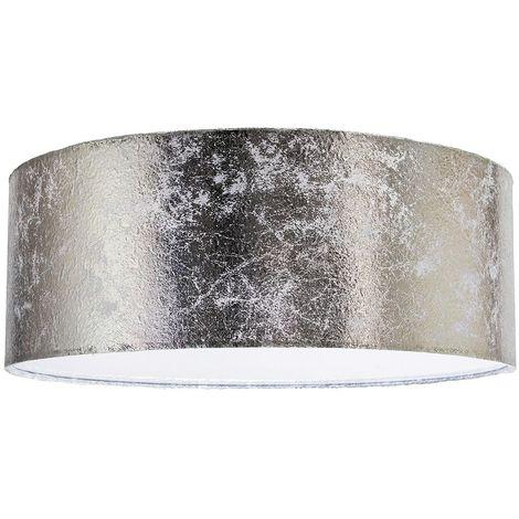 Modern Designer Silver Foil Leaf Effect Flush Mounted Ceiling Light Fitting by Happy Homewares