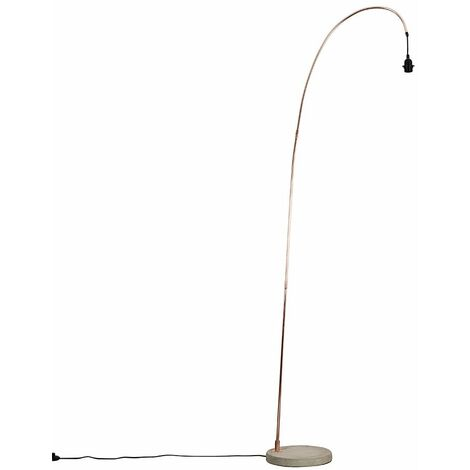 Modern Designer Style Copper Metal & Cement Floor Lamp Base