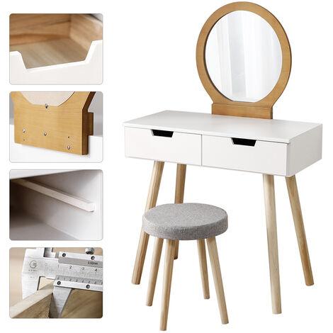 Modern dressing table with white stool + colored log 80 ¡Á 40 ¡Á 128CM