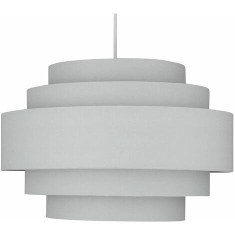 Modern Easy Fit Ceiling Light Shade 5 Tier Ombre, Dark, Light Grey Pendant Lighting