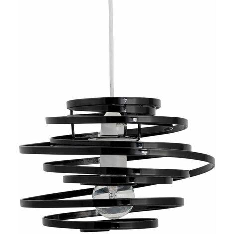 Modern Easy Fit Ceiling Light Shade Metal Swirl Design Lounge Bedroom Lightshade