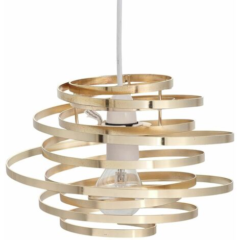 Modern Easy Fit Ceiling Light Shade Metal Swirl Design Lounge Bedroom Lightshade