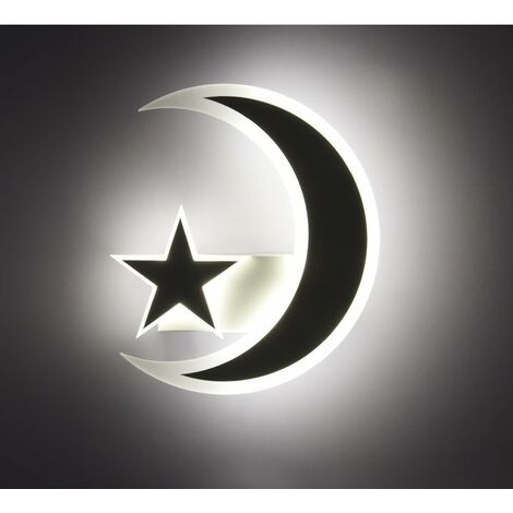 """main image of """"Modern Elegant Wall Light Creative Star Moon Wall Lamp Nordic Simple Wall Sconce Cute Baby Wall Light Warm White"""""""