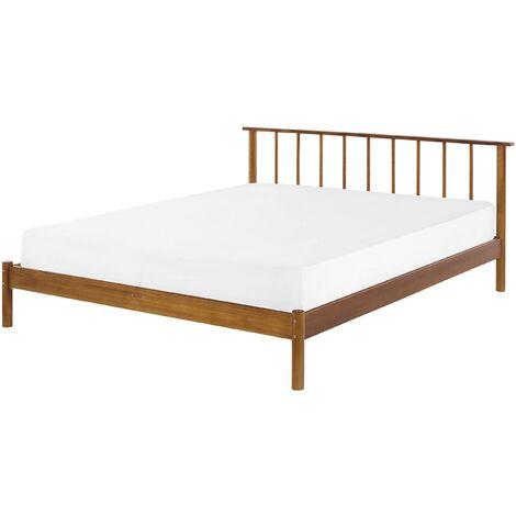 Modern EU Super King Size Bed Frame 6ft Headboard Light Pine Wood Barret