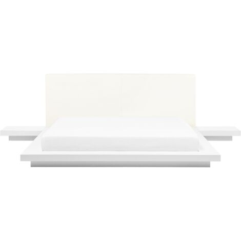 """main image of """"Modern EU Super King Size Waterbed 6ft with Mattress Side Tables White Zen"""""""