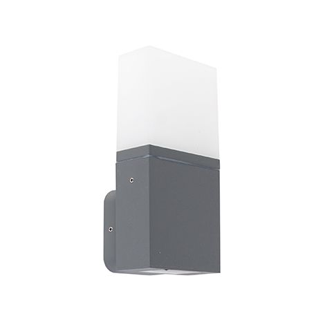 Modern exterior wall lamp dark gray incl. LED IP54 - Malia