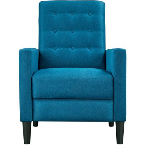 Modern Fabric Recliner Chair Adjustable Sofa Lounge Comfy Armchair with Soft Padded Seat for Living Room/Bedroom/Theater Home Furniture