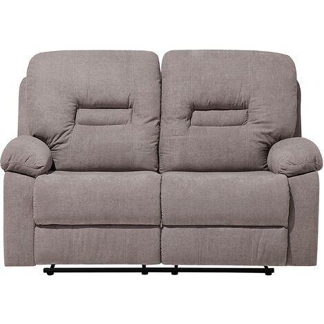 "main image of ""Modern Fabric Recliner Sofa Manual Reclining Padded 2 Seater Beige Bergen"""