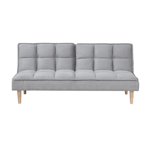 Modern Fabric Sofa Bed Click Clack Armless Living Room Light Grey Siljan