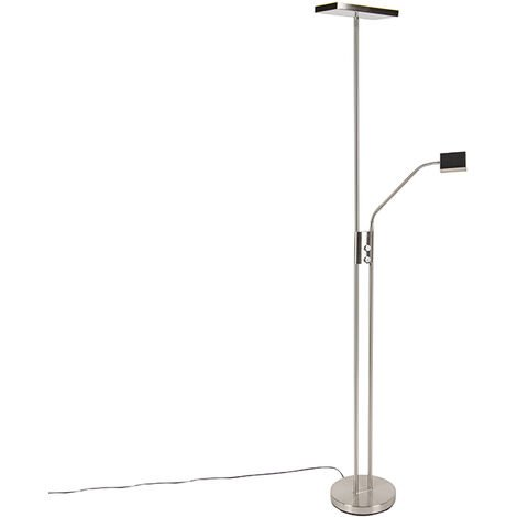 Modern floor lamp incl. LED and dimmer with reading lamp - Uplighter Jazzy