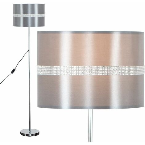 Modern Floor Lamp With A Cotton Light Shade