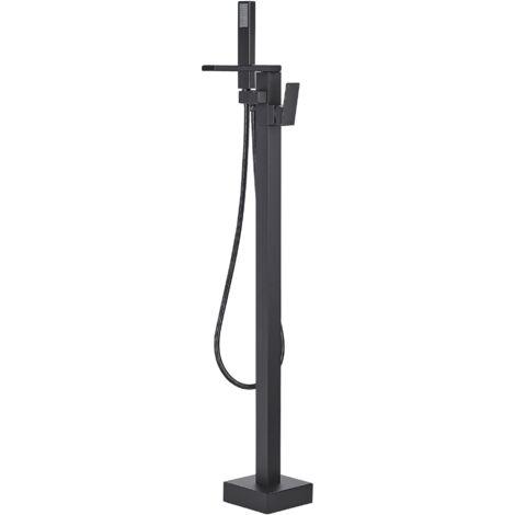 Modern Freestanding Bath Mixer Tap Faucet Matt Shower Bathroom Black Boyoma