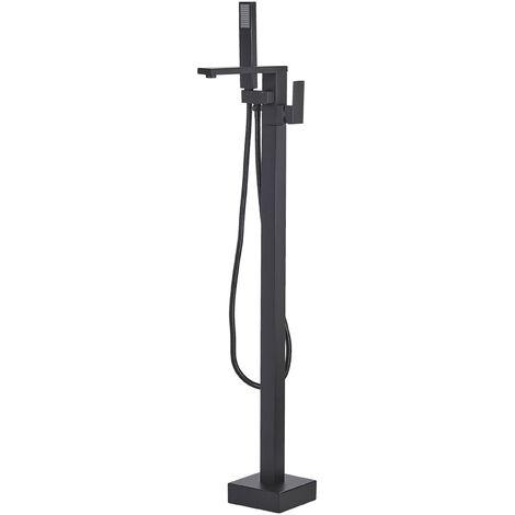 Modern Freestanding Bath Mixer Tap Shower Bathroom Black Della