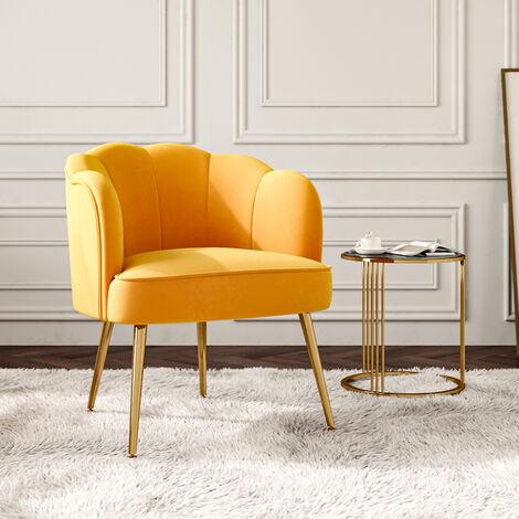 Modern Frosted Velvet Shell Accent Chair