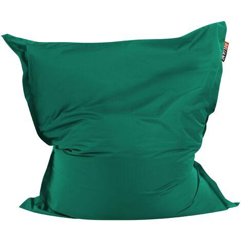 Modern Green Bean Bag Large Polyester Cover Zipper Living Room Bedroom