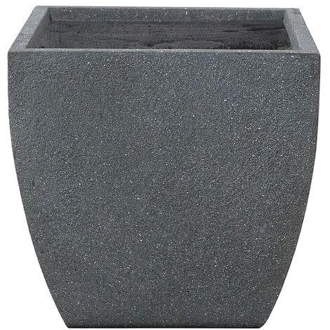 Modern Grey Clay Flower Pot Weather Resistant 46x46x44 cm Oricos