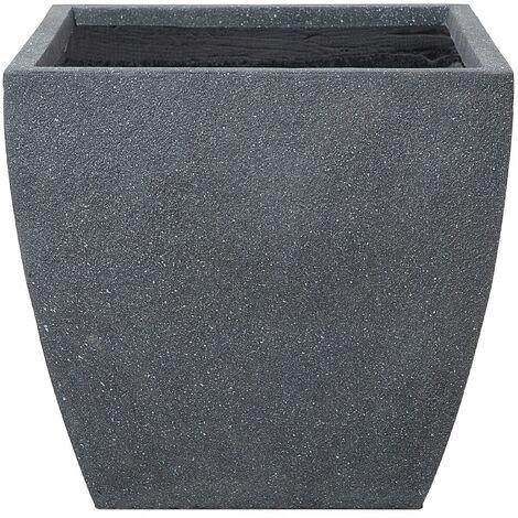 Modern Grey Clay Flower Pot Weather Resistant 53x53x51 cm Oricos