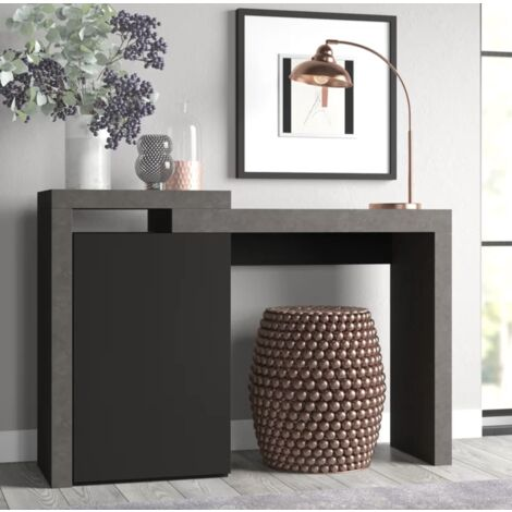 Modern Grey Console Table Hallway Side Cabinet Vintage Hall Storage Furniture