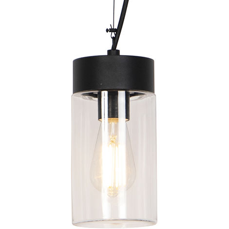 Modern hanging lamp black IP44 - Jarra