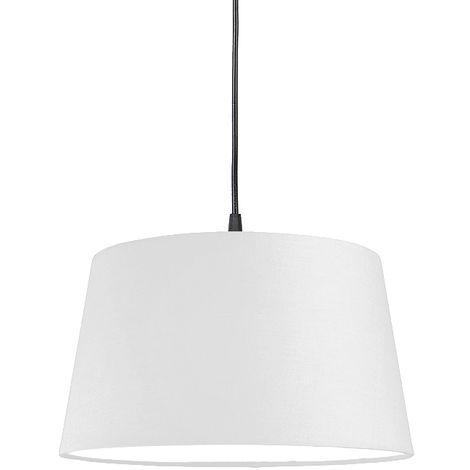 Modern hanging lamp black with white shade 45 cm - pendant