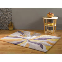 Modern Heavy Weight High Quality Handtufted Thick Soft Rug in Ochre