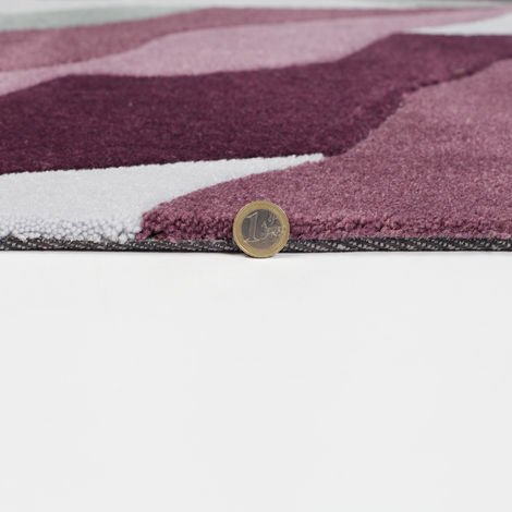 Modern Heavy Weight High Quality Handtufted Thick Soft Rug in Purple