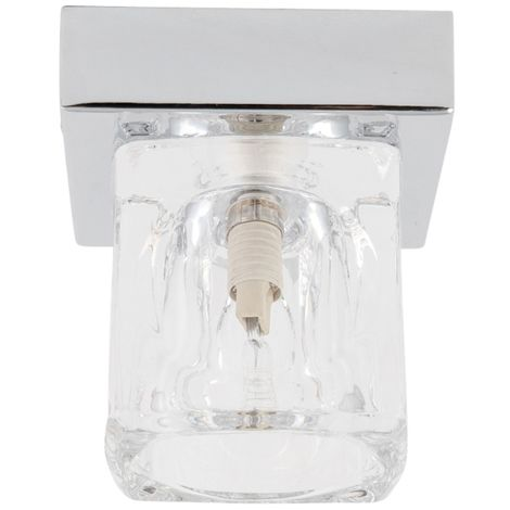 Modern Ice Cube Glass Ceiling Flush Light Surface Mounted Downlight Fitting