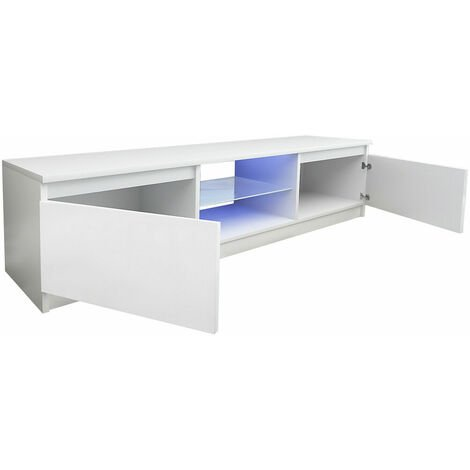 """main image of """"Modern indoor TV cabinet fashion wall mounted TV stand high gloss living room furniture white - White"""""""