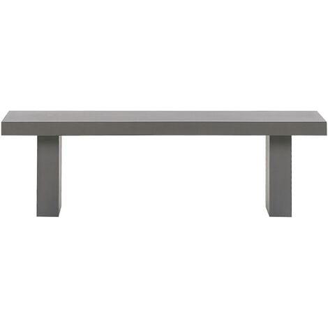 "main image of ""Modern Industrial Outdoor Bench Grey Concrete Steel Frame Rectangular Taranto"""