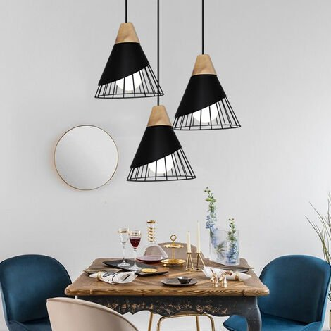 Modern Industrial Pendant Lamp, Metal Lamp Shade | 60W Maximum | Black Industrial Retro Ceiling Light