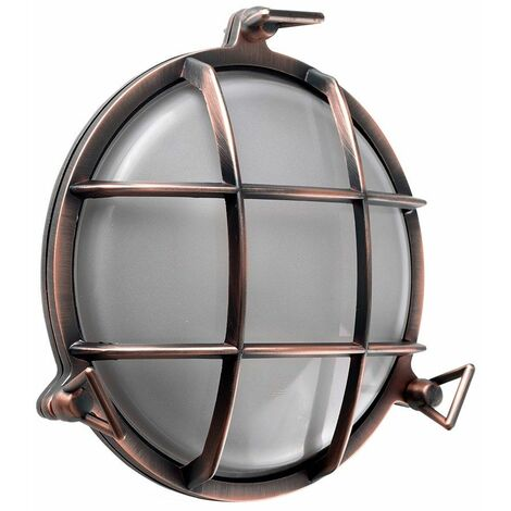Modern Ip66 Rated Round Frosted Lens & Aluminium Metal Outdoor Wall Fisherman Light