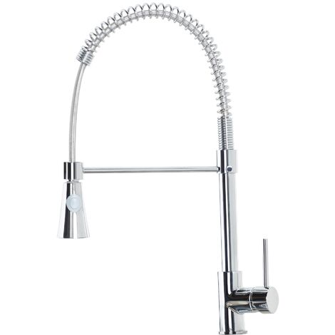 Modern Kitchen Sink Mixer Tap Monobloc Pull Out Hose Spray Single Lever Chrome
