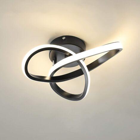 "main image of ""Modern Led Ceiling Light Black Nordic Style Chandelier Creative Design Ceiling Lamp for Bedroom, Kitchen, Living Room, Corridor, Restaurant, Balcony, Warm White"""