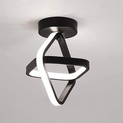 """main image of """"Modern Led Ceiling Light Black Nordic Style Chandelier Cube Design Ceiling Lamp for Bedroom, Kitchen, Living Room, Corridor, Restaurant, Balcony, Cold White"""""""