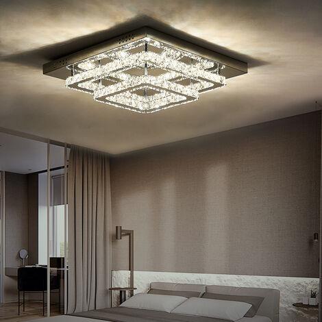 Modern LED Ceiling Light Crystal Chandelier Lamp, 50CM Cool White