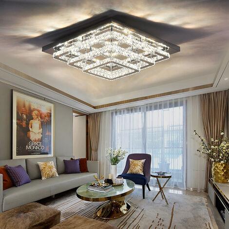 Modern LED Ceiling Light Crystal Chandelier Lamp, 70CM Cool White