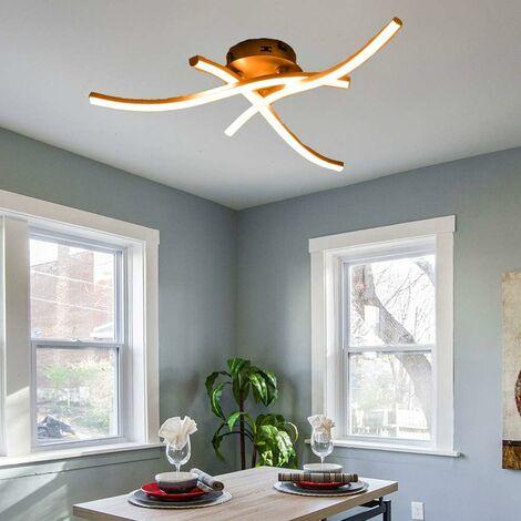 Modern LED Ceiling Light Curved Modern Creative Chandelier with 3 PCS Wave Shape Light Heads For Living Room Bedroom Dining Room (3 Lights Warm White)