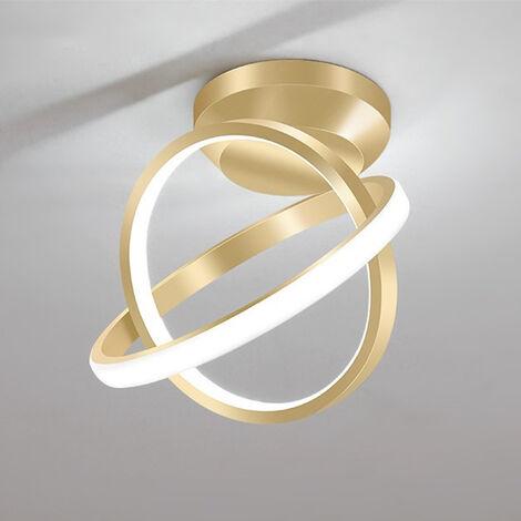 "main image of ""Modern Led Ceiling Light Gold Nordic Style Chandelier Circle Design Ceiling Lamp for Bedroom, Kitchen, Living Room, Corridor, Restaurant, Balcony, Cold White"""