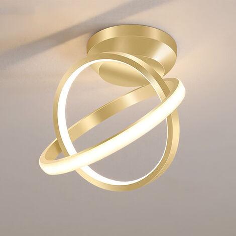 "main image of ""Modern Led Ceiling Light Gold Nordic Style Chandelier Circle Design Ceiling Lamp for Bedroom, Kitchen, Living Room, Corridor, Restaurant, Balcony, Warm White"""