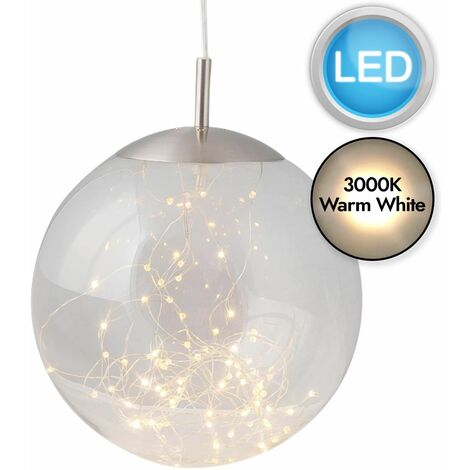 Modern LED Ceiling Light Pendant Fitting Glass Globe Shade Kitchen Island Light
