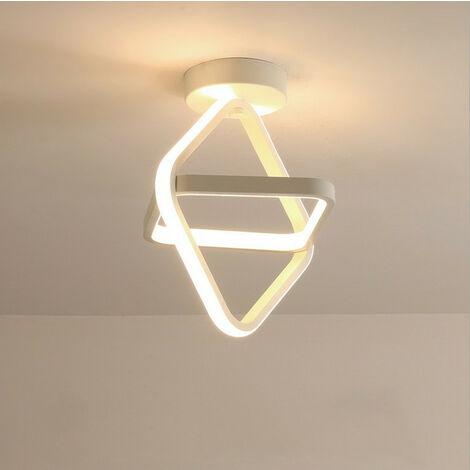 """main image of """"Modern Led Ceiling Light White Nordic Style Chandelier Cube Design Ceiling Lamp for Bedroom, Kitchen, Living Room, Corridor, Restaurant, Balcony, Warm White"""""""