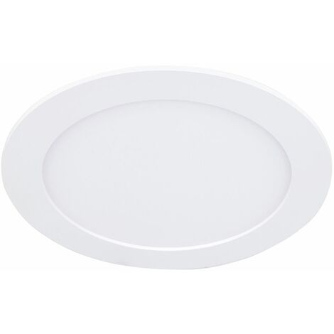 Modern LED & Frosted Flush Round Disc Ceiling Light Fitting