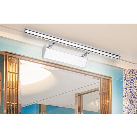Modern LED Led Mirror Light 3W 90-260V Waterproof Wall Sconce Bathroom Industrial Wall Lighting Stainless Steel 25cm White