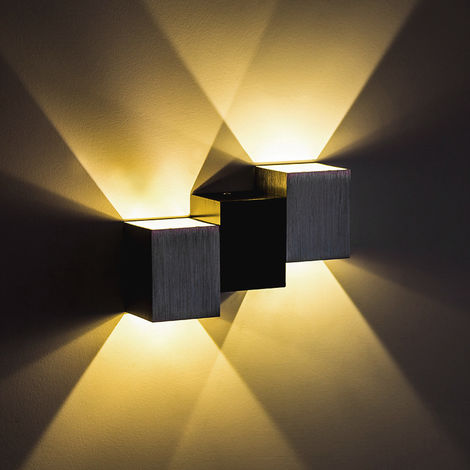 Modern LED Wall Lights Sconce Up Down Wall Lamp Night Light for Living Room Bedroom Wall Lighting Store Living Room Hotel Bar, 6W Warm White